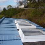 bodové světlíky - varianta větrání - výlez na střechu s řetízky