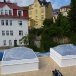 bodové světlíky ALLUX Thermo - pevné provedení, kolmá manžeta, Karlovy Vary