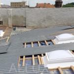 kopulové světlíky - montáž do mírně šikmé střechy z trapézového plechu
