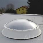 kruhový světlík - rodinný dům Černošice