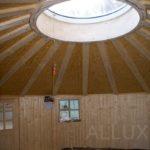 kruhový světlík - dřevěná jurta